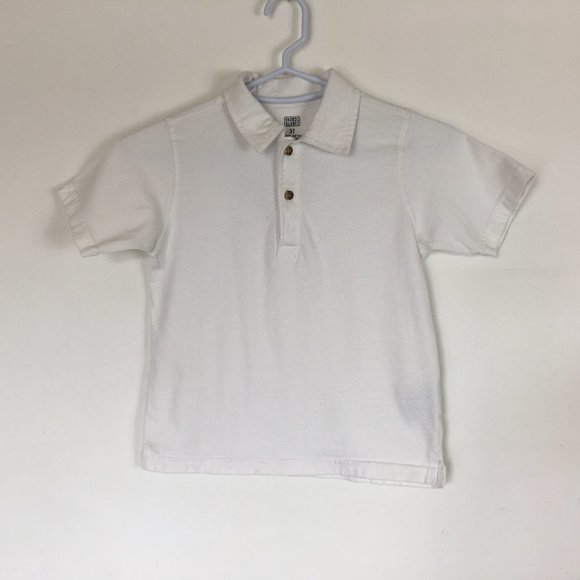 """NEW BOY/'S /""""FADED GLORY/"""" GREEN,BLACK  /& WHITE 2 BUTTON S//S POLO SHIRT"""